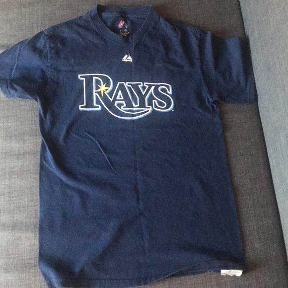 Majestic Mlb Herren Tampa Bay Rays Baseball Shirt Neu L Baseball & Softball Fanartikel